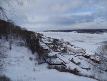 旅途通过俄罗斯 在伏尔加河的Plyos 免版税库存照片