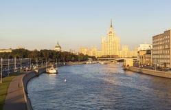 旅馆乌克兰纳在莫斯科,俄罗斯 免版税图库摄影