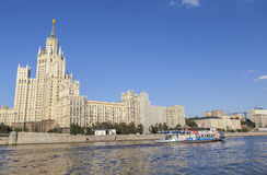 旅馆乌克兰纳在莫斯科,俄罗斯 库存图片
