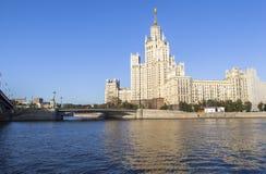旅馆乌克兰纳在莫斯科,俄罗斯 免版税库存图片