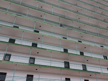旅馆修造的外部,公寓门面 库存图片