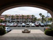 旅馆停车处 免版税库存图片