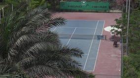 旅馆公园旅馆的疆土的网球场由拉迪森阿布扎比Yas海岛股票英尺长度录影的 股票视频