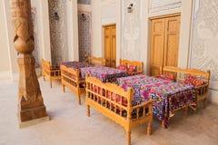 旅馆内部在布哈拉 免版税库存照片