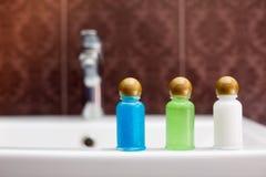 旅馆化妆用品成套工具 库存图片