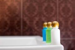旅馆化妆用品成套工具 图库摄影