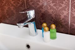 旅馆化妆用品成套工具 库存照片