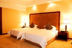 旅馆卧室 图库摄影