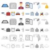 旅馆和设备在集合汇集的动画片象的设计 旅馆和舒适导航标志储蓄网图片