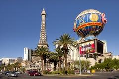 巴黎旅馆和赌博娱乐场在拉斯维加斯,内华达 免版税库存图片