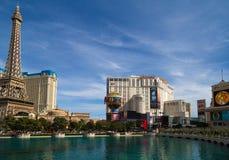 巴黎旅馆和赌博娱乐场在拉斯维加斯,内华达 库存照片