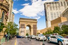 巴黎旅馆和赌博娱乐场,凯旋门 免版税图库摄影