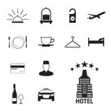 旅馆图标设置了 皇族释放例证