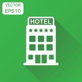 旅馆图标 企业概念旅馆图表 向量Illustratio 向量例证