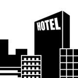 旅馆图标 库存例证