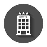 旅馆图标 皇族释放例证