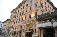 旅馆在佛罗伦萨,圣诞节在意大利 免版税库存照片
