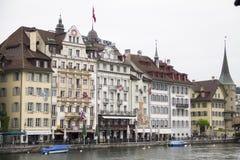 旅馆在卢赛恩,瑞士 免版税库存照片