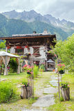 旅馆在法国阿尔卑斯 免版税库存图片