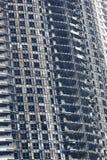 旅馆在迪拜由巨大的火焰摧残了 库存图片