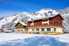 旅馆在Murren,少女峰地区,瑞士 免版税库存照片