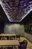 旅馆大厅的现代内部 免版税库存图片