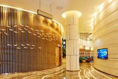 旅馆大厅走廊 免版税库存照片