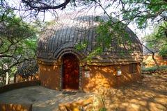 旅馆客房在Shakaland祖鲁族人村庄,南非 免版税图库摄影