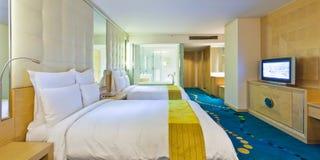 旅馆客房标准 免版税库存照片