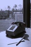 旅馆客房电话 免版税图库摄影