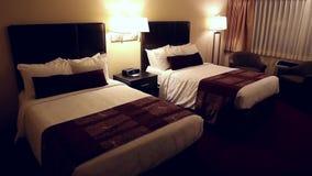 旅馆客房的一边没有人的 影视素材