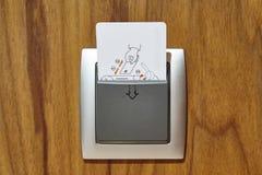 旅馆客房钥匙卡片锁 安全入口个人identificat 库存照片