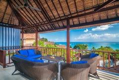 旅馆客房,巴厘岛内部  图库摄影