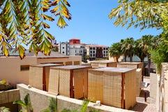 旅馆小屋豪华按摩温泉视图 免版税图库摄影
