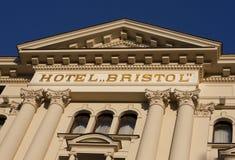 旅馆布里斯托尔在华沙 免版税库存图片