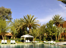 旅馆庭院, Ouarzazate 库存照片