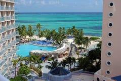 旅馆手段热带视图 免版税库存图片