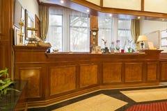 旅馆接纳地区的内部 免版税图库摄影