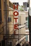 旅馆标志 免版税库存照片