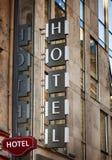 旅馆标志 免版税图库摄影