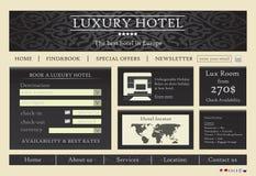 旅馆模板网站 免版税库存图片