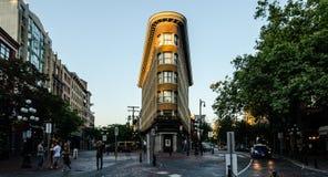 旅馆欧洲大厦,Gastown,温哥华 免版税库存图片