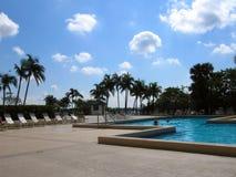 旅馆池手段 图库摄影