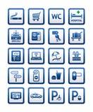 旅馆汽车旅馆服务被设置的符号符号 免版税库存图片