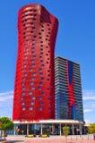 旅馆波尔塔Fira在巴塞罗那,西班牙 库存照片