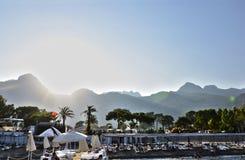旅馆海滩 免版税图库摄影