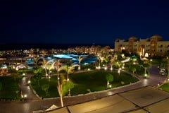 旅馆照明豪华晚上 免版税图库摄影