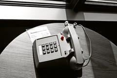 旅馆电话空间 免版税库存照片