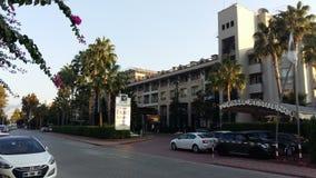 旅馆的看法从路的 库存照片