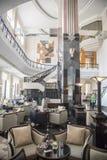 旅馆苦楝根皮河内越南的内部 免版税库存照片